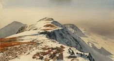Cader Idris from Mynydd Moel, an original watercolour painting by Rob Piercy