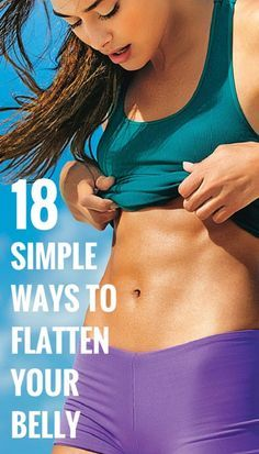 SIMPLE EXERCISES FLATTEN YOUR BELLY