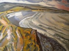 """Rye Marshes, East Sussex"" by Paul Nash. Abstract Landscape, Landscape Paintings, Landscapes, English Artists, British Artists, John Nash, Costa, Art History, Fine Art"