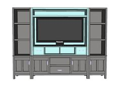 Ana White | Build a The Media Hutch | Free and Easy DIY Project and Furniture Plans
