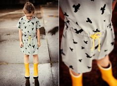 Beautiful dress c/o Mói and gumboots by Bergstein