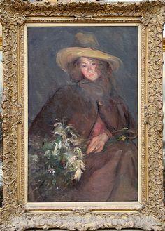 I'd buy this is it weren't wildly overpriced  Albert de Belleroche, Portrait of a Girl, Oil Painting