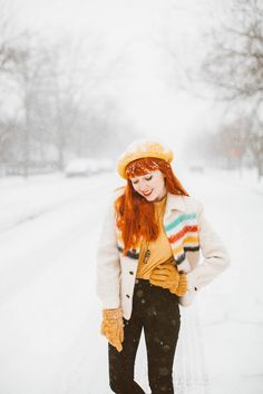 aclotheshorse snow day vintage hudson bay coat