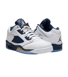 "JORDAN MENS RETRO 5 LOW ""DUNK FROM ABOVE"" SNEAKER White"
