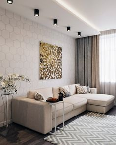 In which version of this living room do you like .- В каком варианте эта гостиная вам нравится … In which version do you like this living room more than 1 or # Dom_tvoej_mechty_living roomAuthor: - Ceiling Design Living Room, Living Room Colors, Living Room Modern, Home Living Room, Living Room Decor, Apartment Interior, Apartment Design, Interior Design Living Room, Living Room Designs