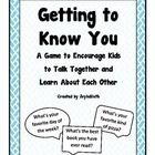 Getting to Know You Game! This was made for classrooms but I think it would be a fun game to use at home with the kids. Some question we would already know of course but some we may think we know and it would be fun to see if we are right! Beginning Of The School Year, New School Year, First Day Of School, Middle School, Activity Day Girls, Activity Days, Get To Know You Activities, Fifth Grade, Grade 3