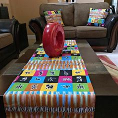 This beautifully vibrant table runners will make any space feel alive! All the colors and designs are sure to bring a little bit of Africa to any space. Excellent choice for table decor for an African theme home decor or party.With 2 differe. Main Colors, All The Colors, African Theme, African Home Decor, Printed Curtains, Navy Gold, Different Fabrics, Hostess Gifts, Event Decor