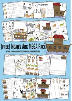 Noah's Ark Mega Pack and Free Sunday School Printables on Frugal Coupon Living. Bible Stories for kids.