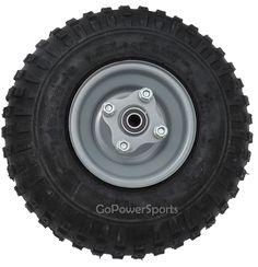 tire, ( tire is 14 tall ) sealed bearings, wheel has flange to mount sprocket and brake drum. Sprocket and brake drum not incl. Homemade Kids Toys, Go Kart Kits, Go Kart Engines, Kart Parts, Diy Go Kart, Mini Chopper, Car Breaks, F150 Truck, Thing 1