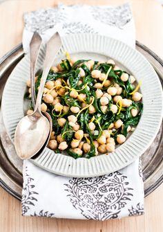 Yummy Supper: CHICKPEAS + DANDELION GREENS