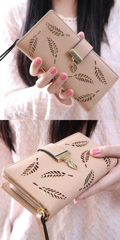 Womens Bags | Stylish Leaves and Hollow Out Design Wallet For Women $11.42