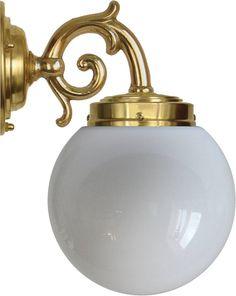 Badrumslampa - Topelius opalvit klot