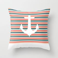 Shapes 027 Throw Pillow by Pattern Pillows - $20.00