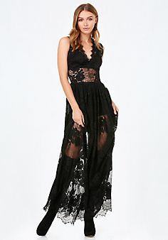 Scallop+Lace+V-Neck+Gown  #bebe and #pinyourwishlist