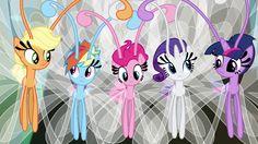 Pinkiepie, Rainbow Dash, Twilight Sparkle, Rarity i love the breezies!!!!