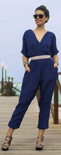 Navy Jumpsuit Chic Style by 1sillaparamibolso