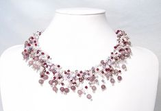 Gorgeous Beading Wire and Swarovski Crystal Necklace Tutorial - The Beading Gem's Journal