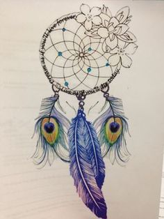 Dream catcher with peacock feathers////// must have!