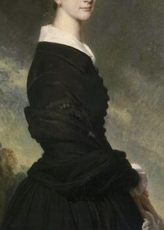 Portrait of Francisca of Brazil, Princess of Joinville (detail), Franz Xaver Winterhalter, 1844. Oil on canvas.