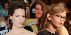 Jennifer Garner and Violet Affleck: one of 28 famous parent-kids pairs that look so alike, it's almost scary.