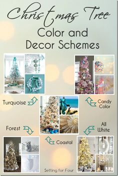 Christmas Tree Color and Decor Schemes - get lots of holiday tree inspiration here!