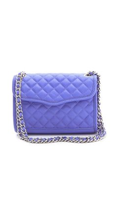 Rebecca Minkoff 'Quilt Mini Affair' The strap can be worn cross body or doubled to be a shoulder bag. And it's PURPLE!