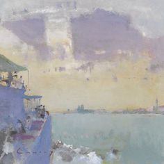Fred Cuming: Ferry on the Lagoon, Venice.