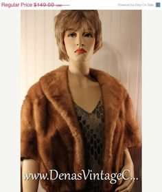Fall Savings Sale Vintage Honey Blonde Mink by DenasVintageCloset