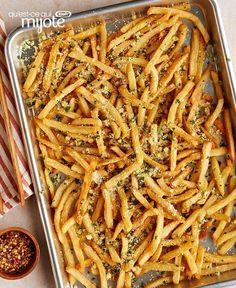 Frites à l'ail et au parmesan #recette