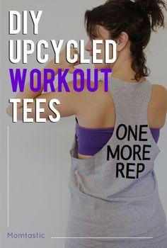 DIY upcycled workout shirts