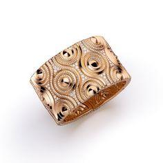 Giampiero Bodino Mosaico bracelet in pink gold with diamonds (POA).