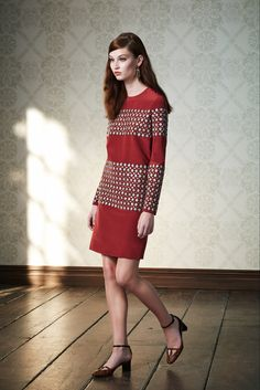 Tory Burch Pre-Fall 2015 - Collection - Gallery - Style.com  jacquard stripe layout