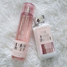 Brand new! Bath and Body Works Pink Mango Spritzer lotion and body mist set. Both are 8 oz (full size). Bath N Body Works, Bath And Body Works Perfume, Bebidas Do Starbucks, Beauty Routine Checklist, Perfume Body Spray, Pink Perfume, Victoria Secret Fragrances, Luxury Soap, Body Care