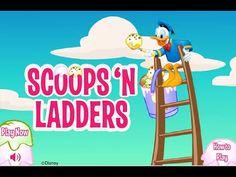 Disney Jr Games - Donald Duck Scoops'n Ladders - Donald Duck Game