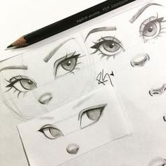 New eye drawing tutorial character design ideas Pencil Art Drawings, Cool Art Drawings, Art Drawings Sketches, Cartoon Drawings, How To Draw Sketches, How To Shade Drawings, How To Sketch, Anime Girl Drawings, Nose Drawing