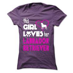 This Girl Loves Her Labrador Retriever T-Shirts, Hoodies. BUY IT NOW ==► https://www.sunfrog.com/Pets/This-Girl-Loves-Her-Labrador-Retriever--LAB01-Purple-Ladies.html?id=41382