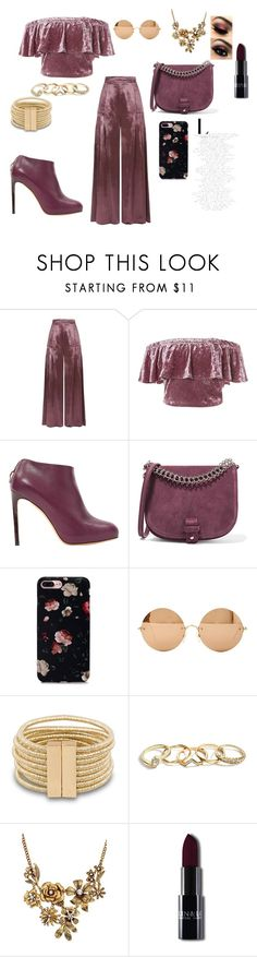 """Untitled #18"" by ajladelicc ❤ liked on Polyvore featuring Temperley London, Sans Souci, Salvatore Ferragamo, Little Liffner, Victoria Beckham, GUESS and WithChic"