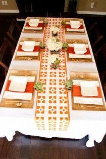 orange Tablescape
