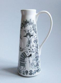 Retro vintage Mid Century ARABIA Finland EMILIA vase jug pitcher 1960 s