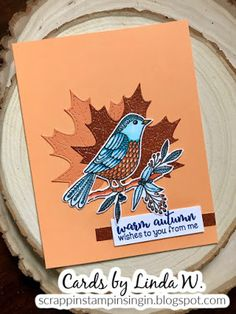 Scrappin', Stampin', & Singin': Autumn bird