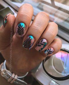 Edgy Nails, Stylish Nails, Trendy Nails, Cute Nails, Short Gel Nails, Basic Nails, Nailart, Manicure Nail Designs, Square Nail Designs
