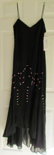 Nightway Collections Formal Cocktail Dress,Black with Pink, NWT, Size 10