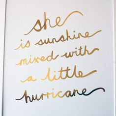 Gold Quote Real Gold Foil Print Free Customisation Available  Watercolour .