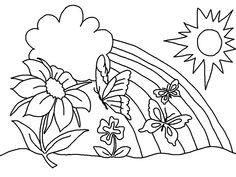 Free Printable Spring Coloring Pages . Free Printable Spring Coloring Pages . Lovely Fun Spring Coloring Pages Spring Coloring Pages, Easter Coloring Pages, Coloring Pages To Print, Coloring Book Pages, Coloring Pages For Kids, Kids Coloring, Flower Coloring Sheets, Printable Flower Coloring Pages, Free Coloring Sheets