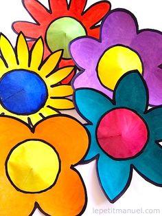 Réaliser des Fleurs colorées en papier à la façon de Nikki de Saint Phalle @ Le Petit Manuel Easy Arts And Crafts, Crafts To Do, Art Floral, Painted Plant Pots, 3rd Grade Art, Learn Art, Art Programs, Country Art, Flower Making