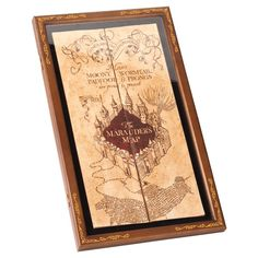 Harry Potter Marauder's Map Display Case ($43) ❤ liked on Polyvore featuring home, home decor, small item storage and map home decor
