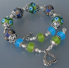 JUST FOR FUN BRACELET Handmade Lampwork and by DebDugasDesigns, $99.99