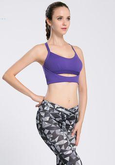 aeb33597b1606 Crossed Strapped Ultra-Hold Yoga Tank. Yoga TankYoga BraThings That Bounce JoggingBrasYoga FitnessRunningGymClothing. Cheap women ...