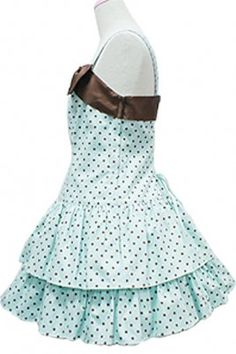 2014 Girl Black Dots Cotton Spaghetti Strap Sweet Lolita Dress With Bow, ocrun.com