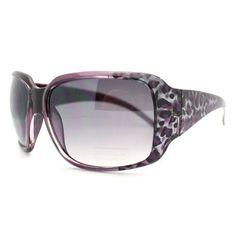 Purple Leopard Classic Oversized Animal Pattern Women's Rectangular Sunglasses 106Shades. $9.90